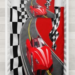 Else Red Flag Ucenic Road Race 3d Seturi Patterned pentru copii Duvet
