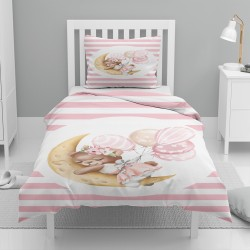 Else Dormit Ursul roz balon alb Seturi de model unic pentru copii Duvet