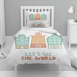 Else Green Orange Orase singur model pentru copii Seturi Duvet