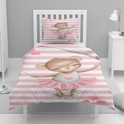 Else roz Balerina Urșii model alb cu dungi unică Pilote Seturi pentru copii