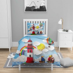 Else albastru Sailor navei pentru copii 3d Seturi Patterned Duvet