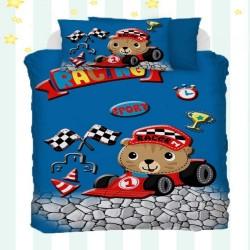 Else 3D Racing Carucior model pentru copii de bumbac Seturi Duvet