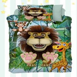Else Leo pentru copii Animale model 3D de bumbac Seturi Duvet