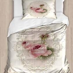 Seturi Else 3d Patterned trandafiri roz unică Duvet