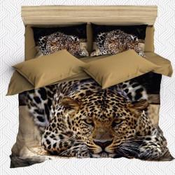 Seturi Else Brown Negru Leopard 3D dublă Duvet