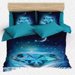 Seturi Else Blue Diamond Stele Noapte 3D dublă Duvet