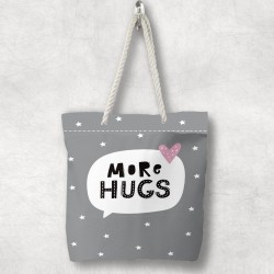 Else Stars imbratisare 3d Patterned Fabric fermoar umăr geanta