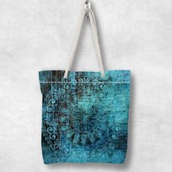 Else verde 3d retro etnice Patterned Fabric fermoar umăr geanta