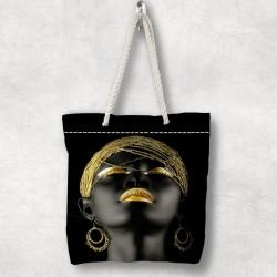 Else Yellow arabe Fetele 3D Patterned Fabric fermoar umăr geanta