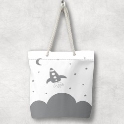 Else Spaceship 3d Patterned Fabric cu fermoar umăr geanta