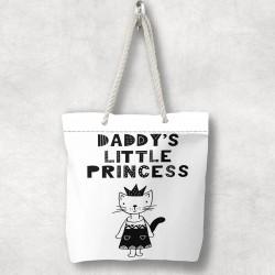 Fiica 3d model Zippered Fabric Umăr Else Pisici Tatălui Bag