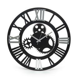 Eekhome Roma argint oglindită ceas decorativ din lemn