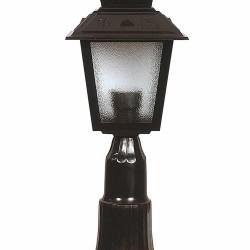 AVONNI BSU-68213-BSY-K Iluminat exterior negru pictat E27 Sticlă policarbonat ABS 18cm