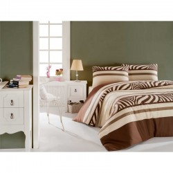 Eponj Home Set lenjerie de pat ușor de călcat. 1 pers. Natural.