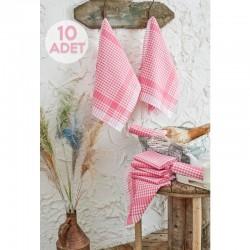 Șervețele de bucătări 46x76cm  Roz