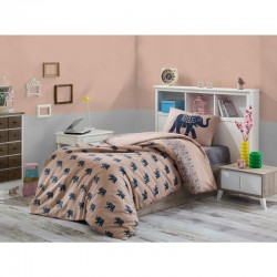 lenjerie de pat ușor de călcat Elefant/Albastru