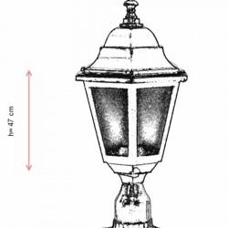 AVONNI BSU-68206-BSY-K Iluminat exterior negru vopsit E27 aluminiu ABS sticlă policarbonat 23cm