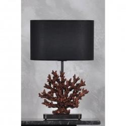 Abajur Cupru Negru/Gri/Gold/Bej Design Coral
